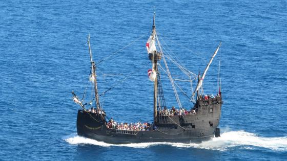 Kolumbus Schiff Santa Maria als Nachbau